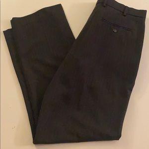 """Perry Ellis black pinstripe dress pants 36""""by34"""""""